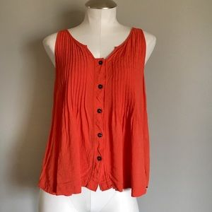 Anthropologie Maeve Orange Blouse Tank